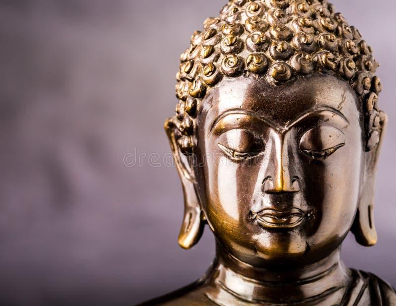 Gezicht van het standbeeld van Boedha royalty-vrije stock afbeelding