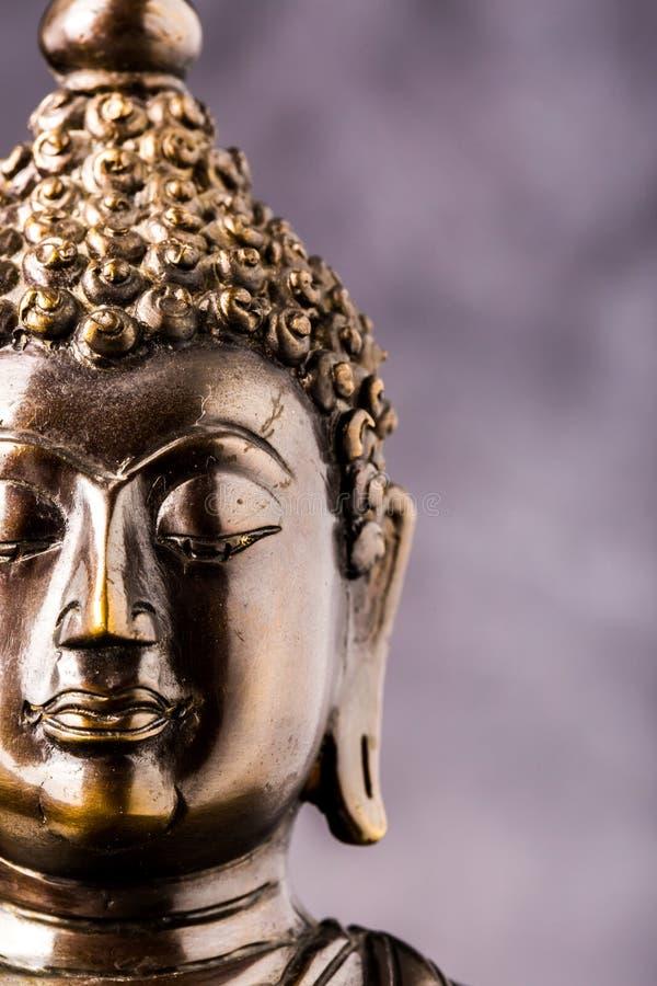 Gezicht van het standbeeld van Boedha stock fotografie