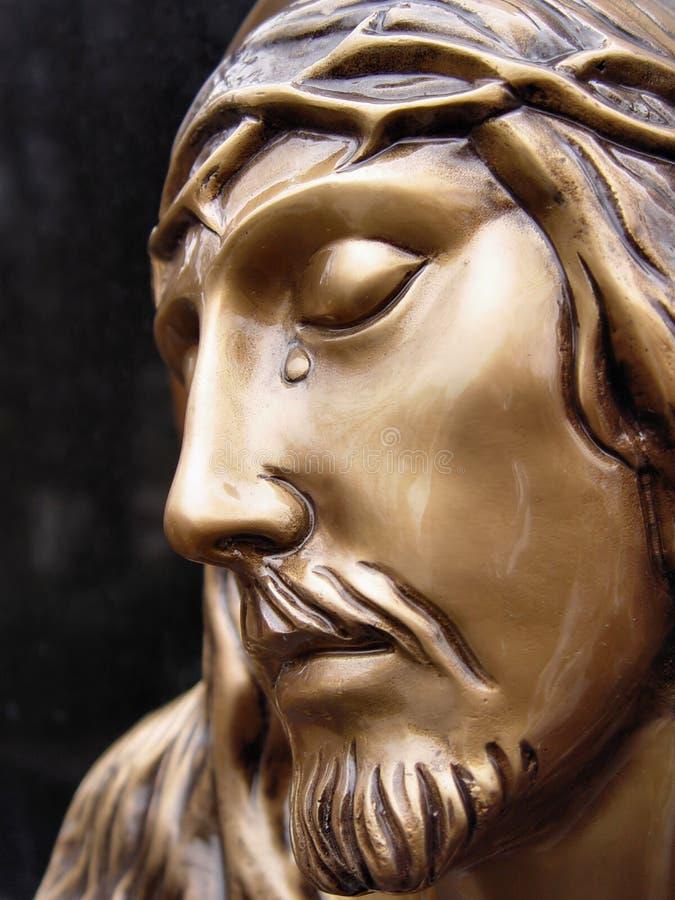 Gezicht van Jesus stock afbeeldingen