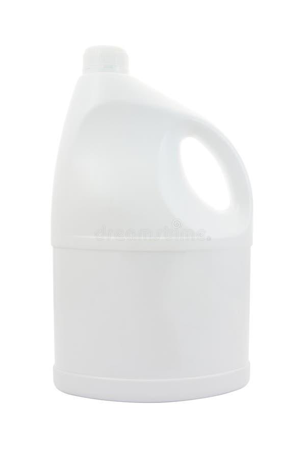 Gezicht van plastic gallon met handvat stock afbeelding