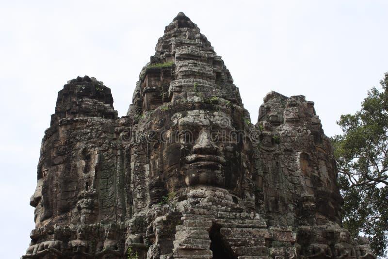 Gezichten van Angkor Wat stock afbeeldingen