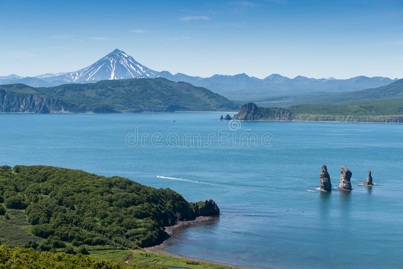 Gezichten van het Schiereiland van Kamchatka stock foto's