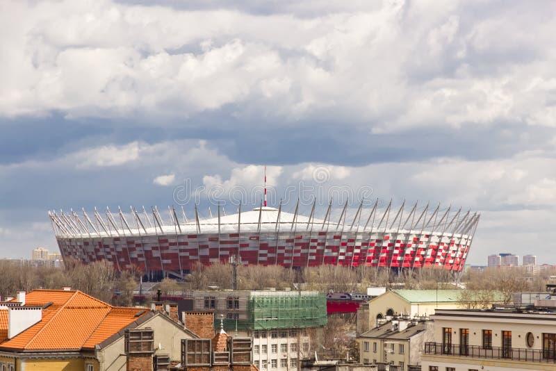 Gezichten van Polen. Nationaal Stadion in Warshau. stock afbeeldingen