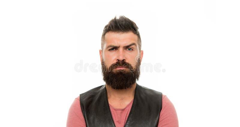 Gezichts zorg Jong en brutaal Gebaarde mens Haar en baardzorg Rijpe hipster met baard Mannelijke kapperszorg ernstig stock afbeelding