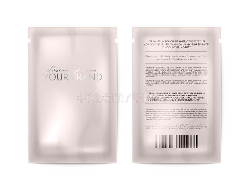 Gezichtsmasker die kosmetisch pak vectormalplaatje verpakken vector illustratie