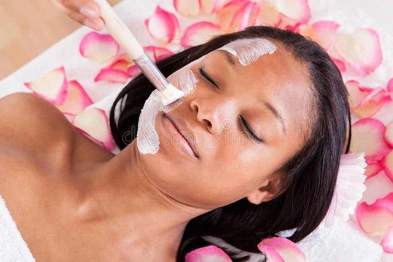 Gezichtsmasker van Vrouw royalty-vrije stock fotografie