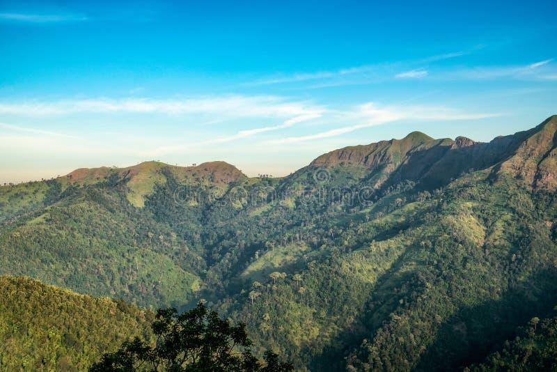 Gezichtspunt grote bergketen royalty-vrije stock afbeelding