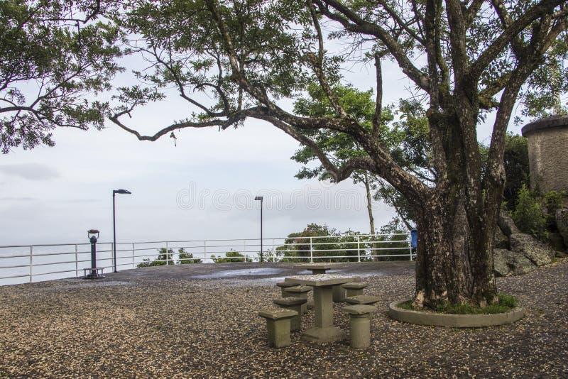 Gezichtspunt van Cruz Mount - Florianópolis/SC - Brazilië stock fotografie