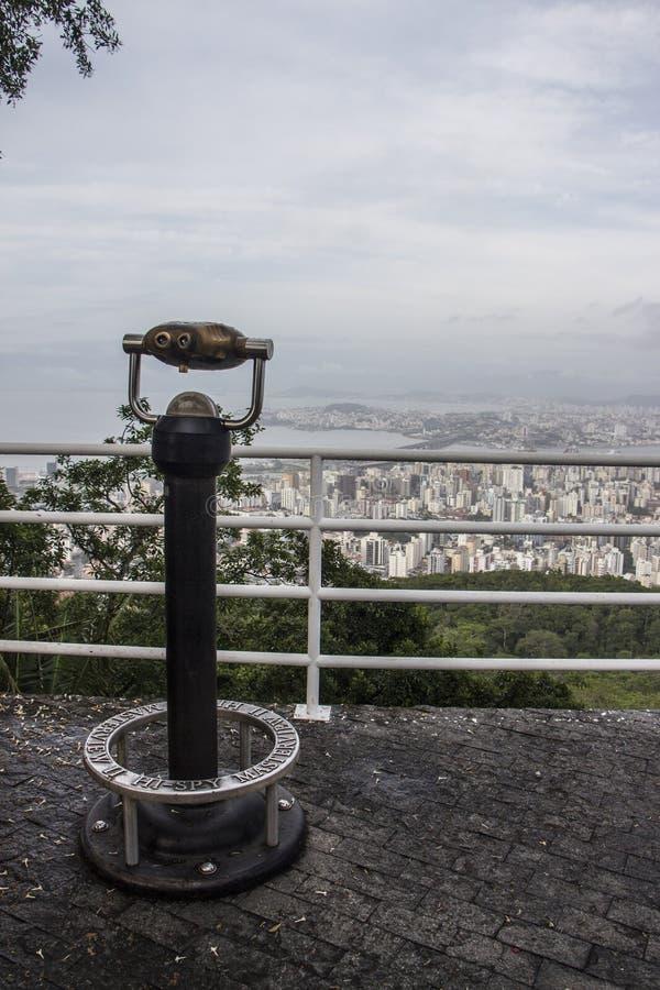 Gezichtspunt van Cruz Mount - Florianópolis/SC - Brazilië royalty-vrije stock fotografie