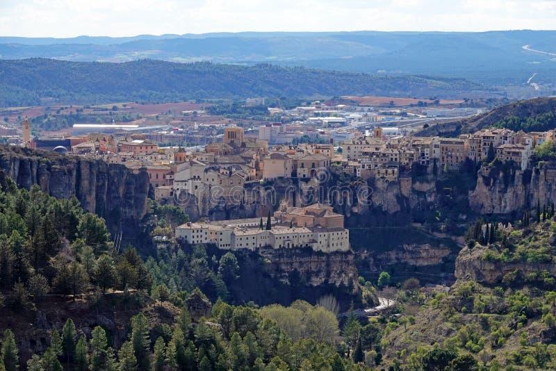 Gezichtspunt van Cuenca stad in Spanje royalty-vrije stock afbeeldingen