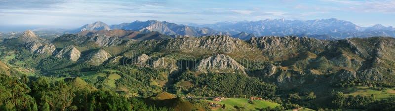 Gezichtspunt van Fito, mening van Picos DE Europa stock foto