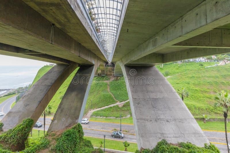 Gezien van onderaan de brug Lima Peru van Mellizo Villena Rey royalty-vrije stock foto