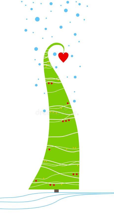 Gezierter Weihnachtsbaum lizenzfreie abbildung