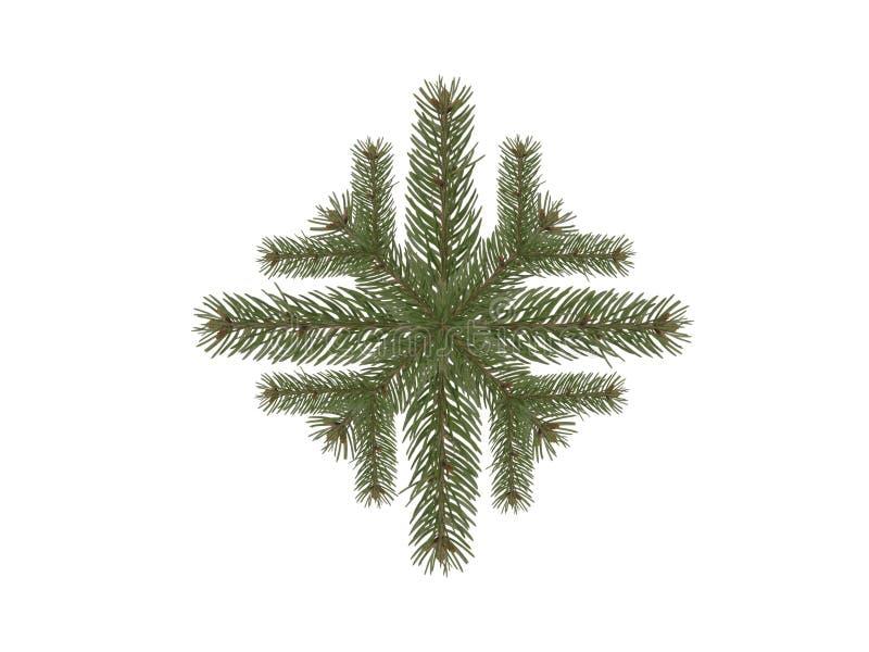 Gezierter Zweig der Schneeflocke stockfoto