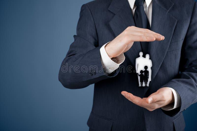 Gezinslevenverzekering en polis royalty-vrije stock foto's
