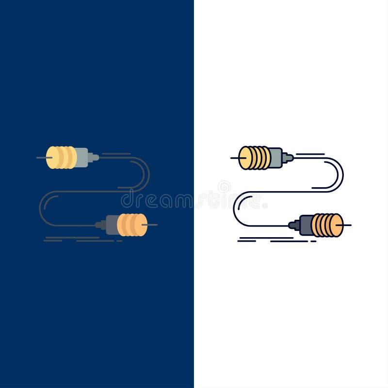 Gezoem, mededeling, interactie, marketing, het Pictogramvector van de draad Vlakke Kleur stock illustratie