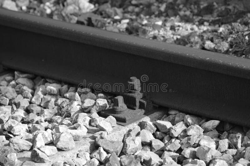 Gezoem op een oude spoorweg van Frankrijk stock fotografie