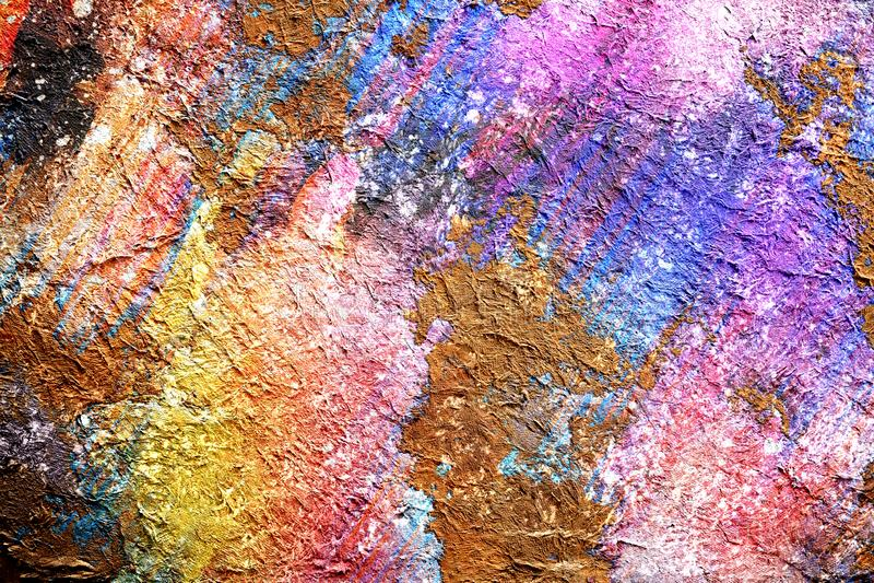 Gezogener Aquarellhintergrund der abstrakten Malerei durch digitale Bürstentechnik, Tapete mit farbenreicher Beschaffenheit des A lizenzfreie abbildung