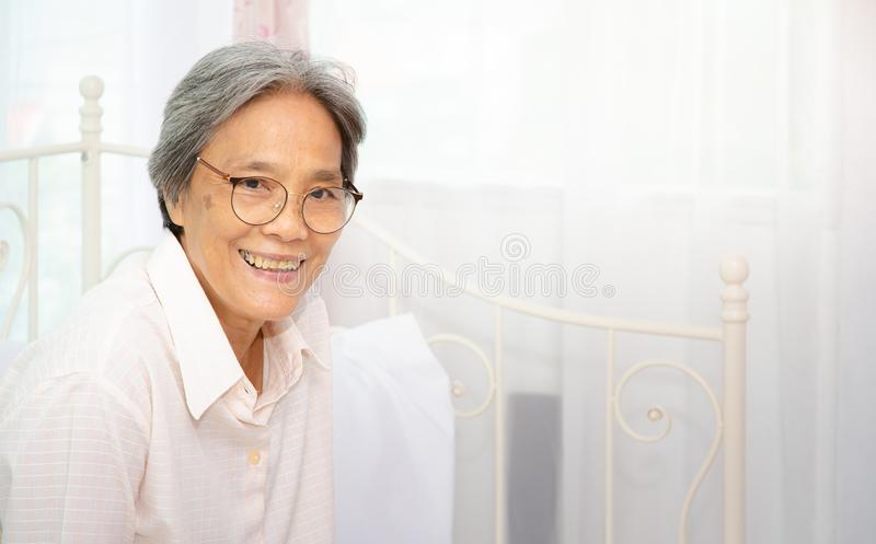 Gezond bejaard concept stock fotografie