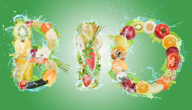 Gezond Biovoedsel voor wellness stock afbeelding