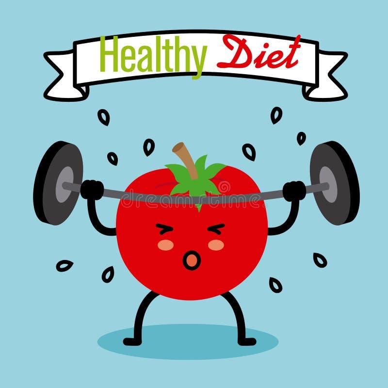 Gezond dieet royalty-vrije illustratie