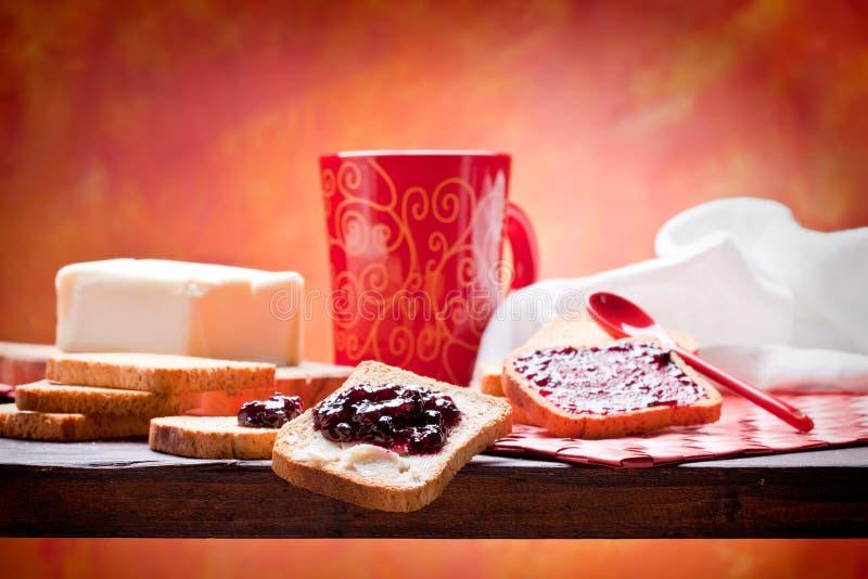 Gezond En Voedend Ontbijt Royalty-vrije Stock Afbeelding