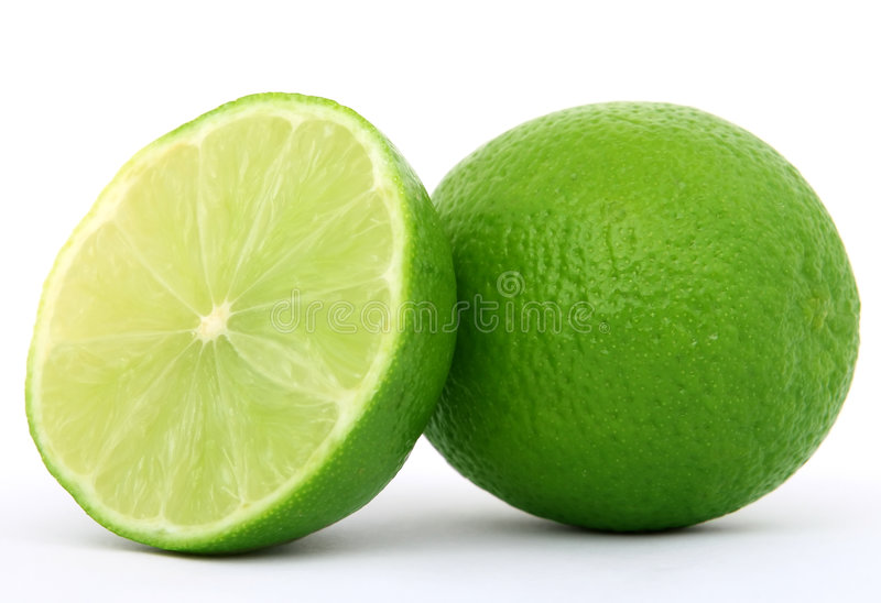 Gezond groen kalkfruit stock foto's