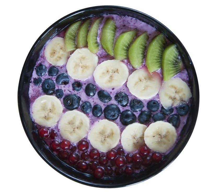 Gezond havermeel met vruchten en yoghurt royalty-vrije stock foto