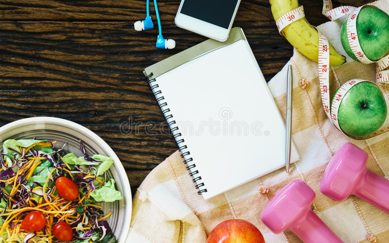 Gezond het eten, het op dieet zijn, vermageringsdieet en gewichtsverliesconcept - Bovenkant royalty-vrije stock afbeeldingen