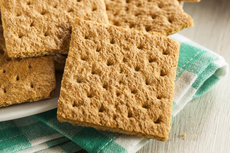 Gezond Honey Graham Crackers stock fotografie