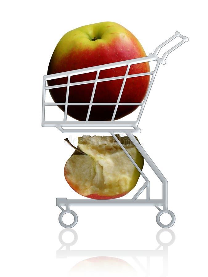 Download Gezond Koop. Appelen In Een Boodschappenwagentje Stock Illustratie - Illustratie bestaande uit fruit, shopping: 295497