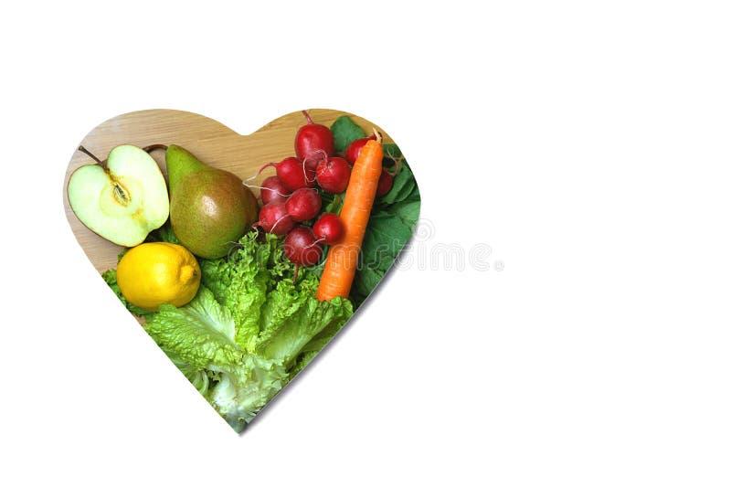 Gezond levensstijl en gezondheidszorgconcept met voedsel, hart Keto de ingrediënten van het dieetvoedsel op witte achtergrond De  royalty-vrije stock afbeelding