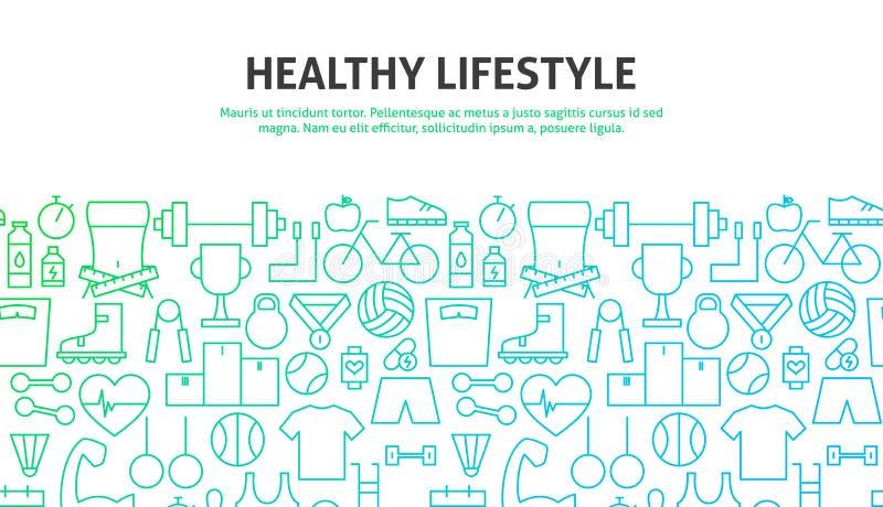 Gezond levensstijlconcept stock illustratie