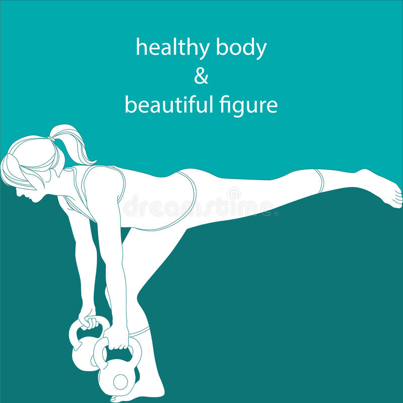 Gezond lichaam en mooi cijfer vector illustratie