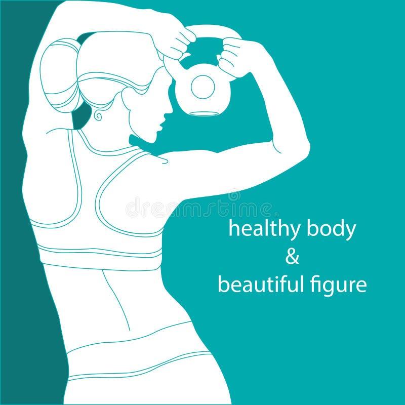 Gezond lichaam & mooi cijfer stock illustratie