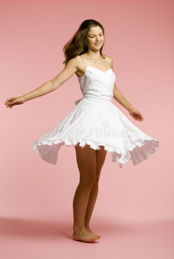 Gezond meisje in wit stock fotografie