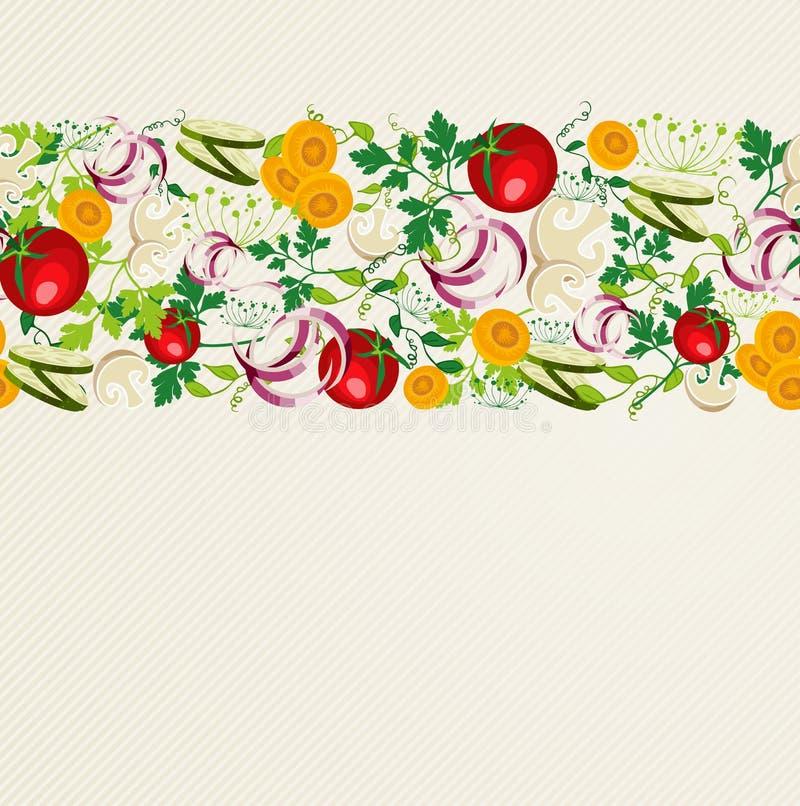 Gezond natuurvoedingpatroon stock illustratie