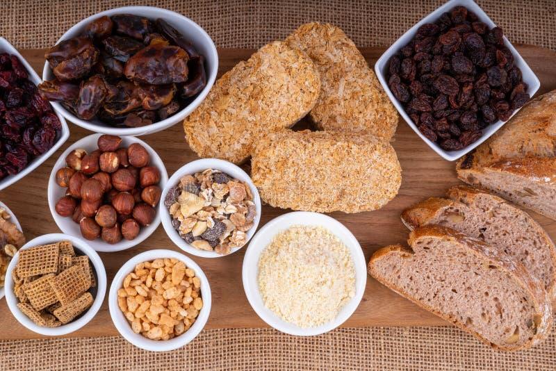 Gezond ontbijtvoedsel stock foto's