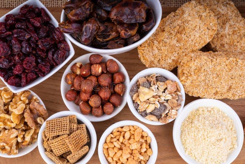 Gezond ontbijtvoedsel stock afbeeldingen