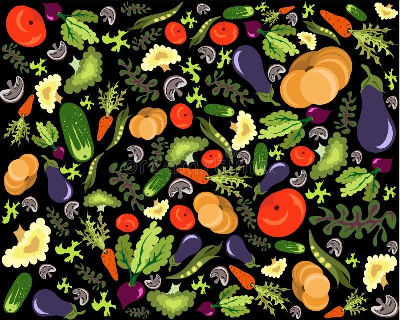 Gezond plantaardig patroon royalty-vrije illustratie