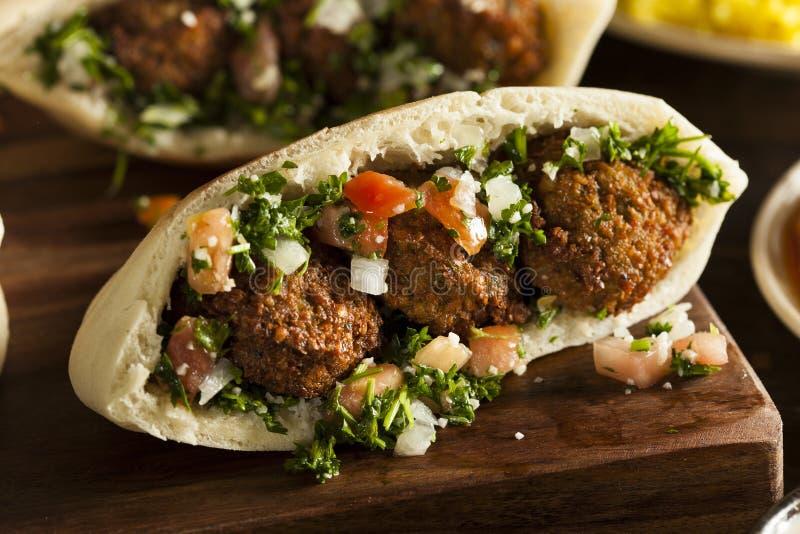 Gezond Vegetarisch Falafel-Pitabroodje stock fotografie