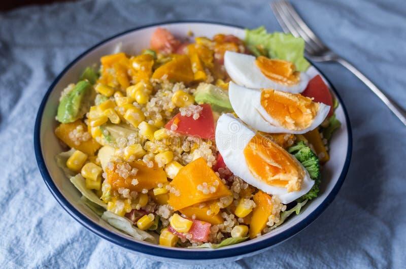 Gezond vegetarisch quinoa recept stock foto