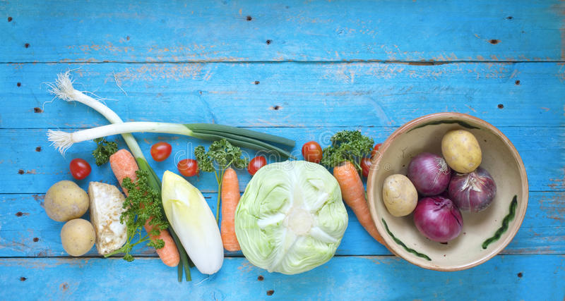 Gezond voedsel, diverse groenten stock foto's