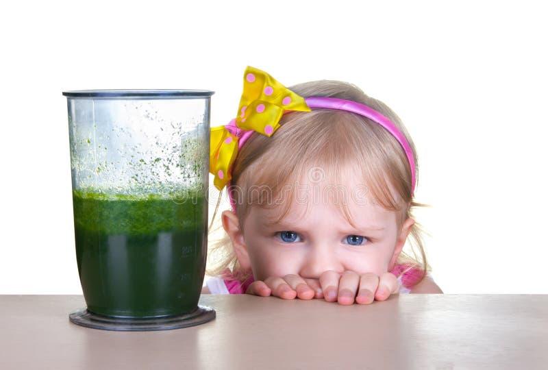 Gezond voedsel, groene smoothie royalty-vrije stock afbeeldingen