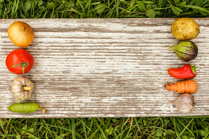 Gezond Voedsel het ruwe voedsel van de de herfstoogst voor vegetariërs stock afbeelding