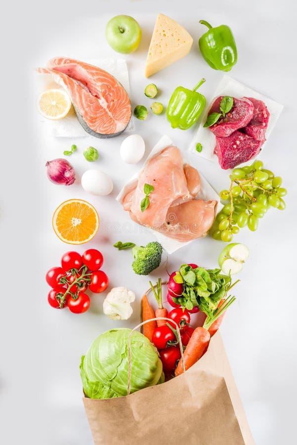 Gezond voedsel het winkelen concept stock afbeelding