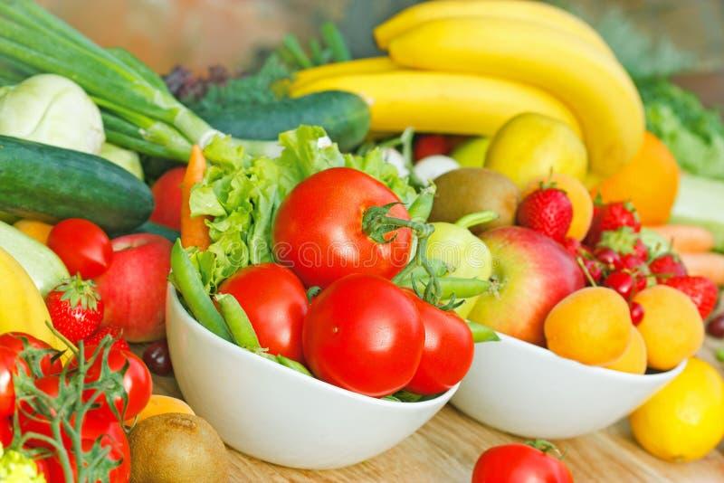 Gezond voedsel - natuurvoeding stock foto