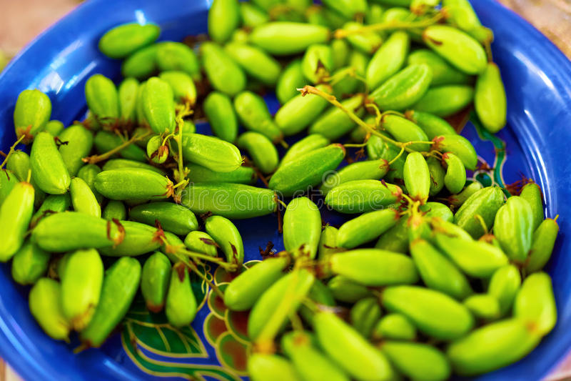 Gezond voedsel Organische Bilimbi (Averrhoa, Boomzuring, Taling P royalty-vrije stock foto's