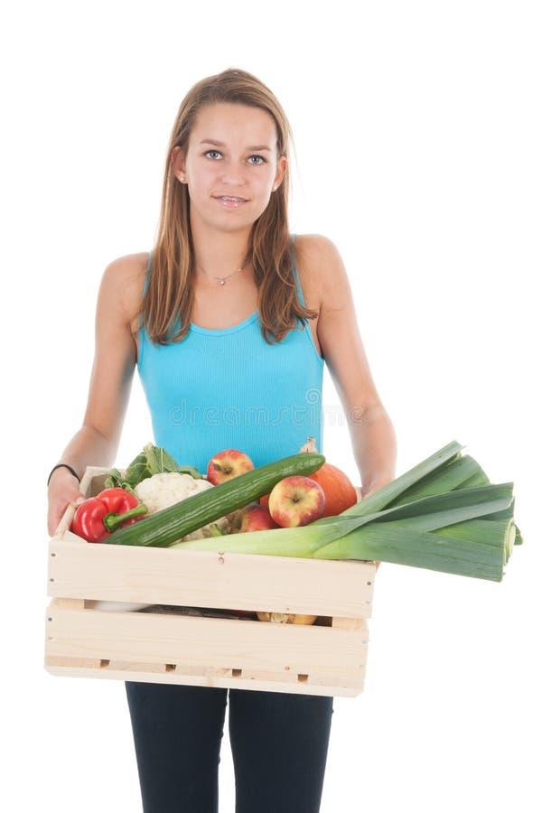 Gezond voedsel voor tienermeisje royalty-vrije stock foto