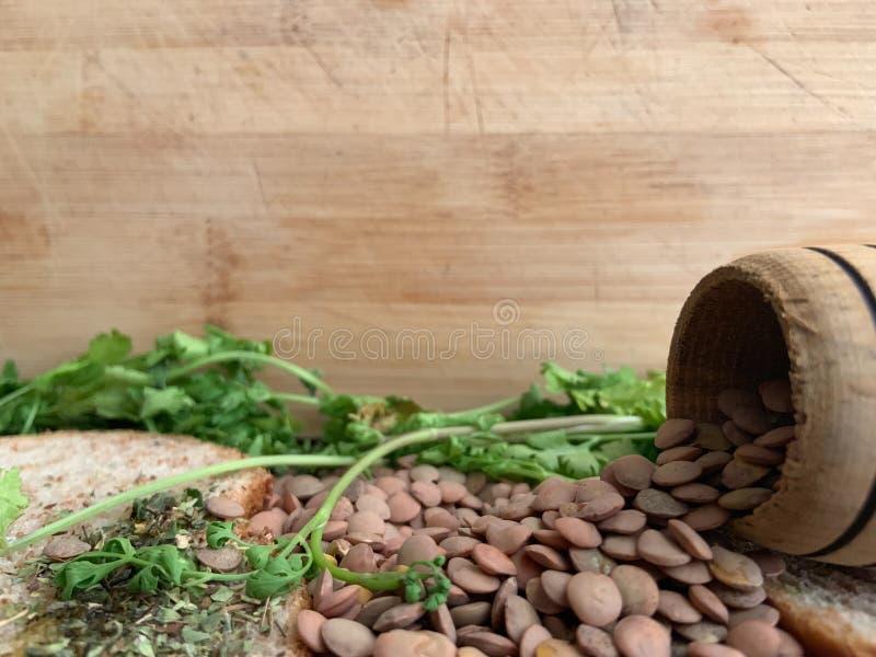Gezond Voedsel voor Writte binnen Restaurantbanner Veganistvoedsel stock afbeelding